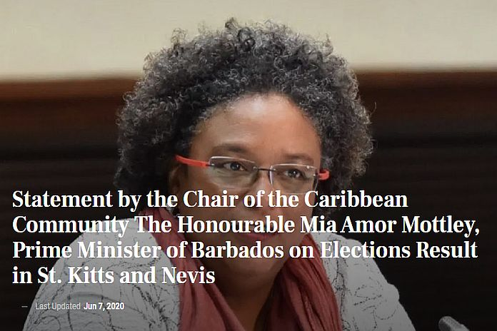 Caribbean News Global caricom_skn NextGen SKN cannot concede general elections: 'Irregularities'report expected