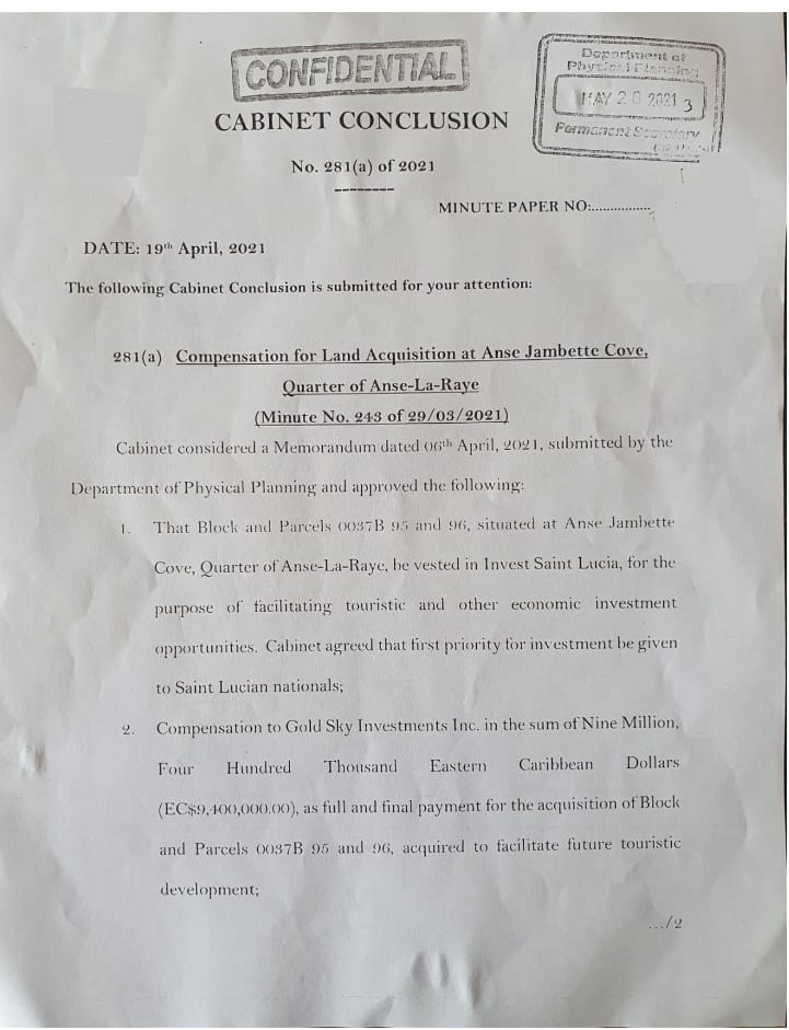 Caribbean News Global slu_concl_281a St Lucia parliament to borrow EUR 13.5 million as more illegality unfolds