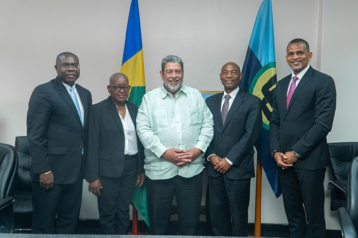 Caribbean News Global CDB-_PM-Gonsalves CDB president meets with PM Gonsalves on official visit to St Vincent and the Grenadines