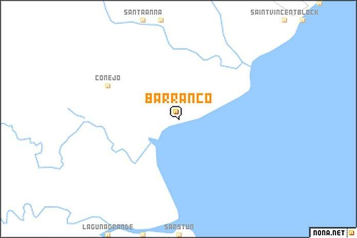 Caribbean News Global Map-of-Barranco-Village Garifuna landrights case in Belize