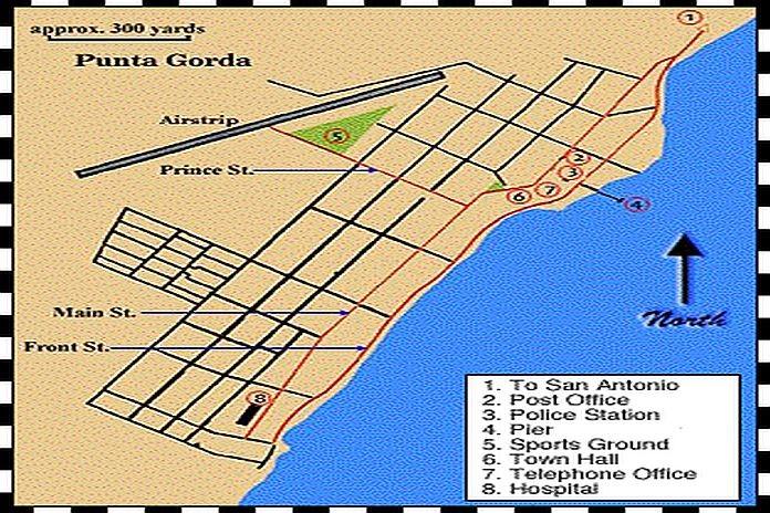 Caribbean News Global Map-of-Punta-Gorda-Town Garifuna landrights case in Belize